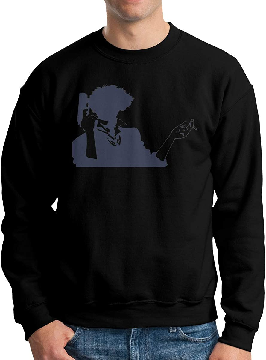 Wanjirong Mens Sweatshirts Cowboy Bebop Casual Longsleeve Sweater