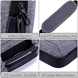 Brinch 17.3 Inch Multi-functional Suit Fabric Portable Laptop Sleeve Case Bag for Laptop, Tablet, Macbook, Notebook - Grey