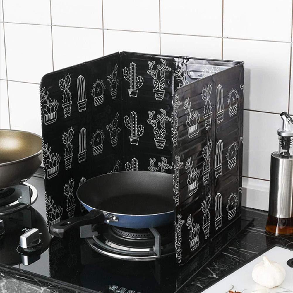 estilo n/órdico Deflector de aceite Cocina en el hogar Protector contra salpicaduras Tablero de aislamiento de aceite Protector contra salpicaduras antiadherente A prueba de salpicaduras Deflector