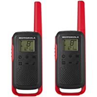 Motorola Talkabout T62 PMR-Radioapparatuur (Set Van 2, PMR446, 16 Kanalen En 121 Codes, Bereik 8 Km), 16.5 x 5.4 x 3.1…