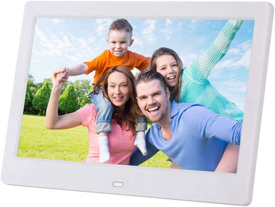 LoMe Digital Photo Frame Android,10 LED WiFi Electronic Screen Photo Frame for Music Mp3 Video Mp4 Business Advertisin with Remote Control,White