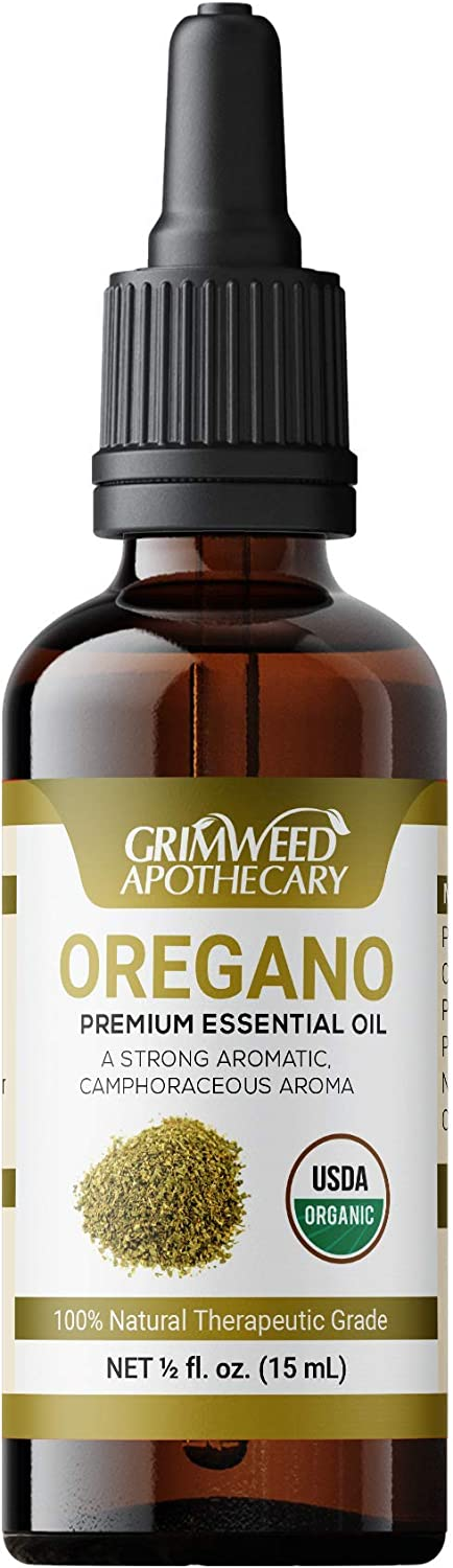 Organic Oregano Essential Oil - 100% Pure & Natural - Undiluted - Therapeutic Grade - Best Aromatherapy - with Glass Dropper