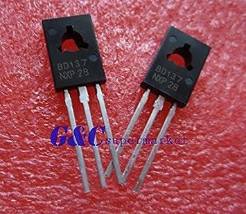100PCS BD137 TRANSISTOR NPN 1.5A 60V TO126 NEW GOOD QUALITY TO2