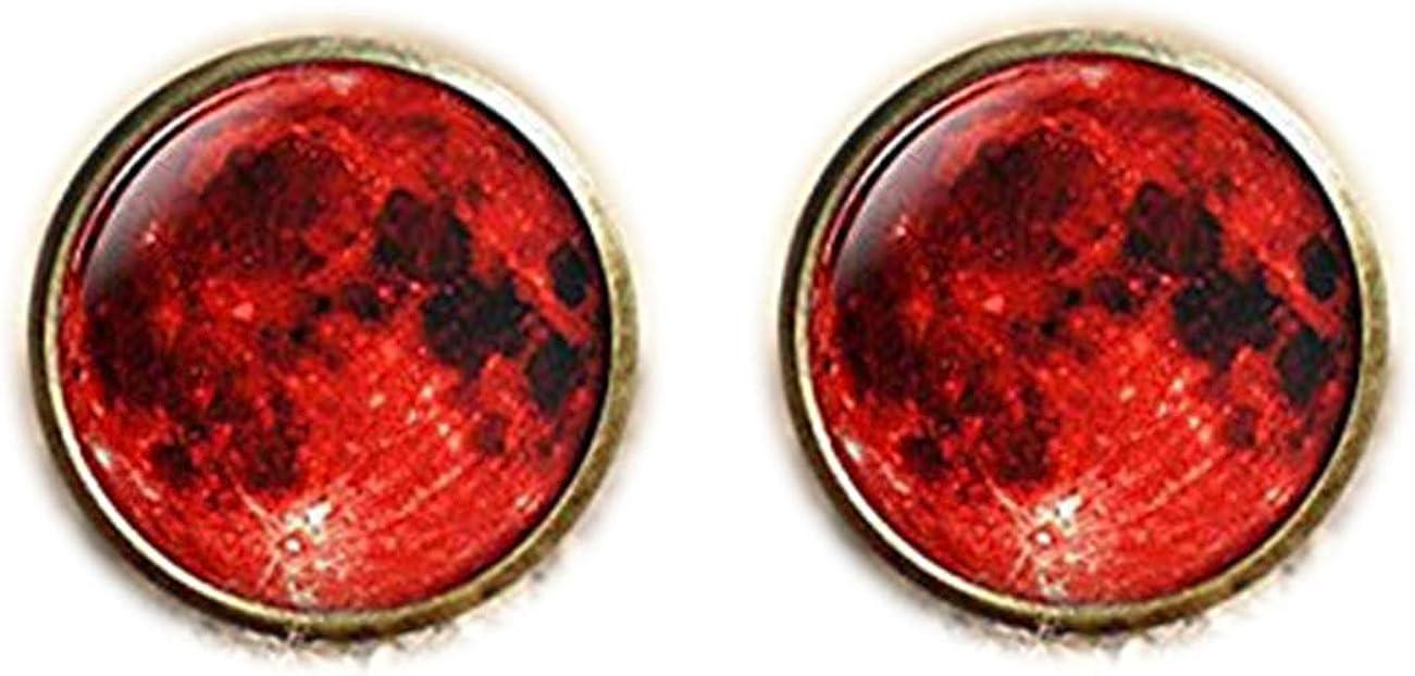 Bloody devil Customized Cufflinks Lunar Space Cuff Links Handicraft artBlood Moon Cuff Links Red Moon Lunar Eclipse Cuff Links,Gothic Cuff Links,Wiccan