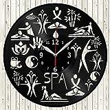 SPA Vinyl Record Wall Clock Decor Handmade Unique Original Gift