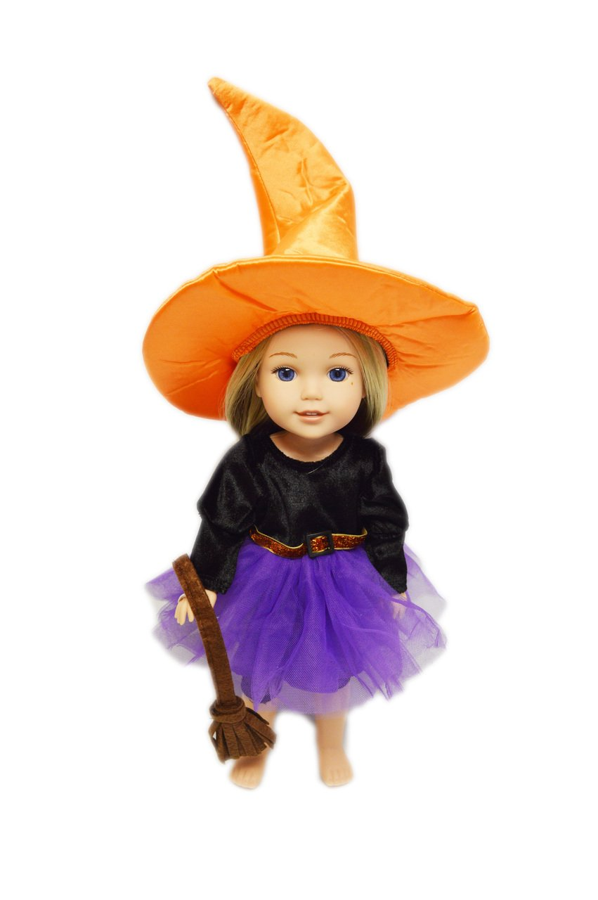 My Brittany's Purple Halloween Witch Costume for American Girl Dolls Wellie Wishers