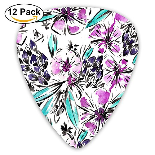 12-pack Guitar Picks Plectrums 0.46mm / 0.71mm / 0.96mm Design_name Stylish Colorful Celluloid For Bass Ukulele