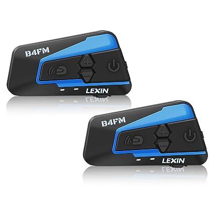 Lexin B4FM 2x Pro intercomunicador casco moto, Auriculares Intercomunicador Moto,Comunicación Intercom,intercomunicador