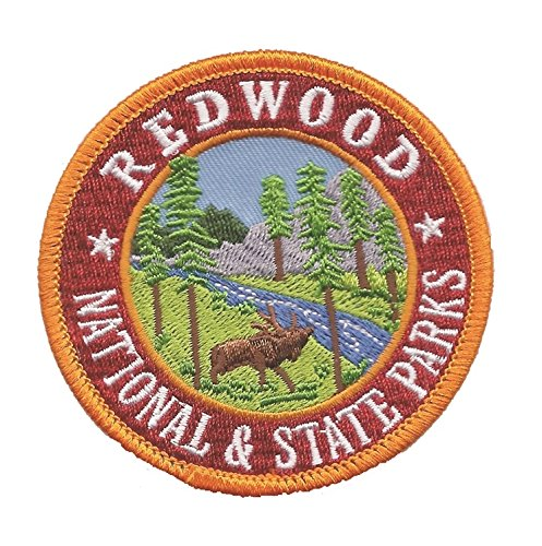 California Redwood National Park and State Park Patch (Iron On) (Parka Redwood)