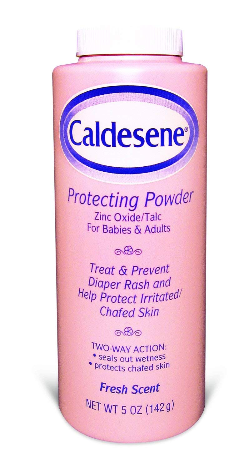Caldesene Medicated Protecting Powder (5 oz) with Zinc Oxide & Cornstarch, helps protect irritated, chafed skin. Ideal for the whole family - babies and adults. Fresh Scent. Medtech Product Inc. 036304W