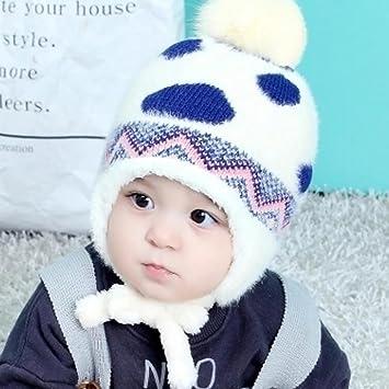 YINGER Sombrero de bebé Chico Niña Encantador Calentar Invierno con Lindo  diseño Gorra Suave para 1 fc7c7030ffd