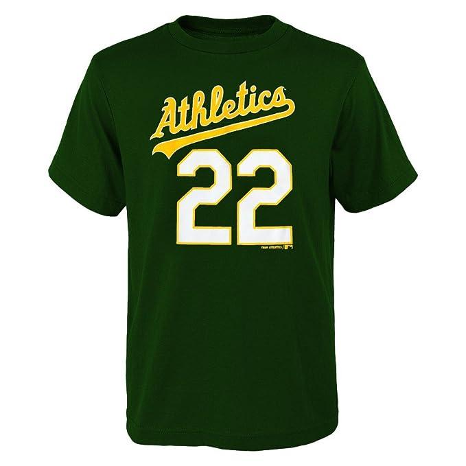 Amazon.com   Outerstuff Josh Reddick MLB Oakland Athletics Player Home Jersey  T-Shirt Boys Youth XS-2XL   Sports   Outdoors 462e65f50