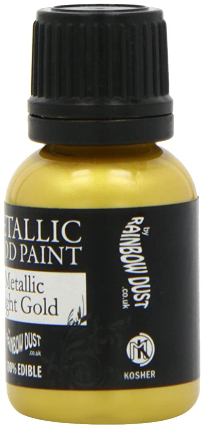 100% Edible Metallic Food Paint LIGHT GOLD