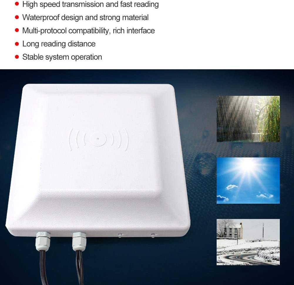 UHF Passive Electronic Tag RFID Reader for Parking System Access Control Waterproof Passive Electronic TAG RFID Integrated Card Reader Access Control Redhead 5m Card Reader usNot networking