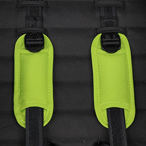ZOE DELUXE Universal Stroller Harness Strap Covers Pads Set (4-Pack, Lime Green)