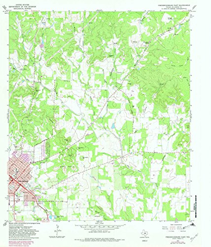 East Tx Chart (YellowMaps Fredericksburg East TX topo map, 1:24000 scale, 7.5 X 7.5 Minute, Historical, 1967, updated 1982, 26.9 x 23 IN - Paper)