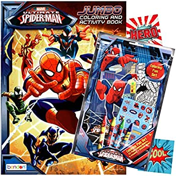 Spiderman Coloring Book With Fun Set Crayons Stickers