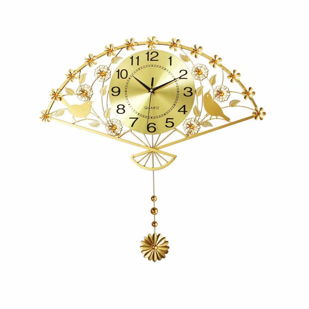 現代 欧風 リビング 時計 ファッション 創意 寝室 水晶時計 田園 シンプル シズネ 電子 壁掛け SFANY B07DR3PDPM