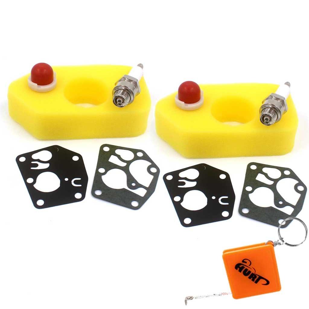 HURI Filtre /à Air avec Bougie Joint Diaphragme Kit pour Briggs /& Stratton Classic Sprint REP 795083 495770 698369 494408 694394