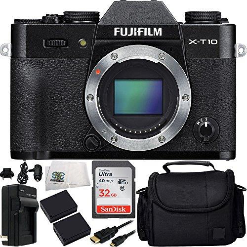 Fujifilm X-T10 Mirrorless Digital Camera  7PC Accessory Kit