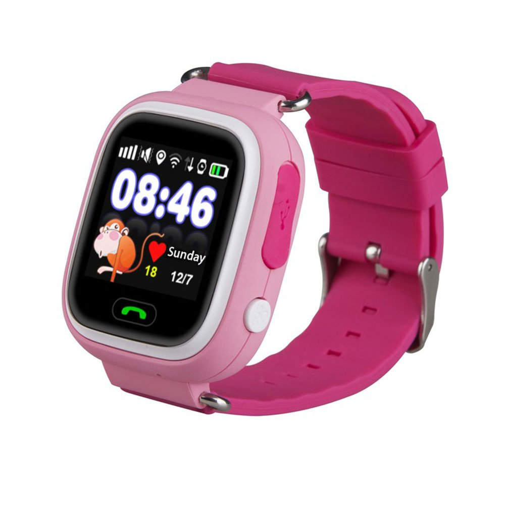 WitMoving Childrens Kids Reloj Inteligente Teléfono GPS Tracker SIM Ranura Anti-Lost SOS Padres Control por iPhone iOS Android Smartphone: Amazon.es: ...