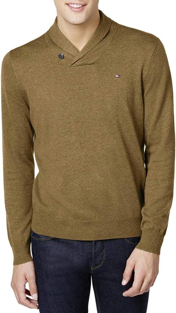 Tommy Hilfiger Springfield Shawl Collar Sweater Grey Mens Small New