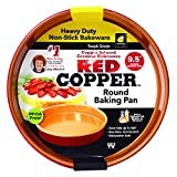 Red Copper 9.5 Inch Round Baking Pan by BulbHead