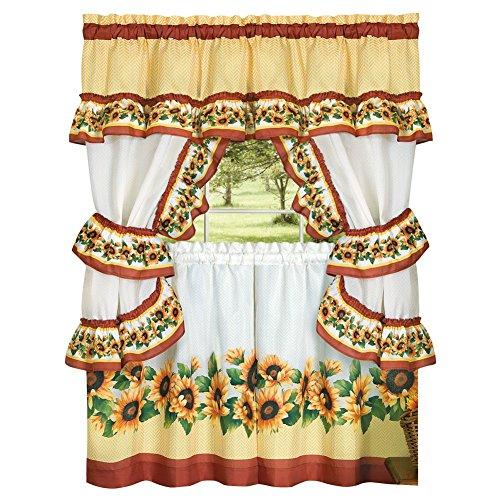 Charming Sunflower Garden Cafe Curtain Set 57
