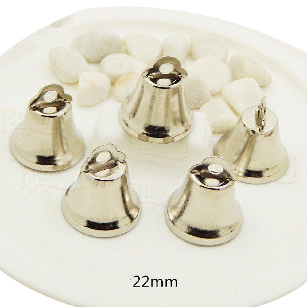 C.X.Y. 50 Campane Campanello Piccole in Metallo Dorato Nichel Decorazione Albero Festa Sonagli (18mm, Dorato)