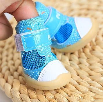 Primavera y verano nuevos zapatos transpirables de malla de gato Teddy Pomeranian ropa para mascotas zapatos