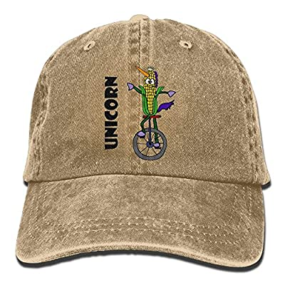 Unique Unisex Funny Corn Ear Riding Unicycle Adjustable Caps Outdoor Sport Caps