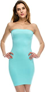 product image for Kurve Women's Strapless Mini Dress - Sleeveless Bodycon Sexy Stretchy Tube Top Slip, UPF 50+ (Made in USA)
