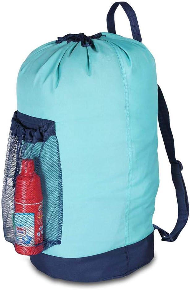 Unisex Laundry Bag Nylon Backpack with Adjustable Shoulder Straps