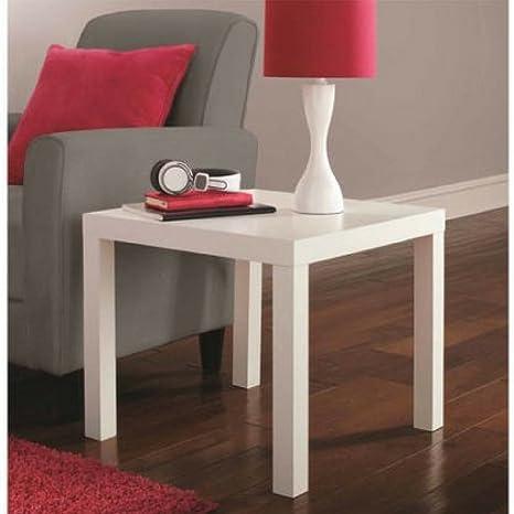 Fine Mainstays Parsons Contemporary End Table White Creativecarmelina Interior Chair Design Creativecarmelinacom