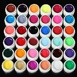 a-goo 36Farben Transparent Pure UV Gel Verlängerung DIY Builder Nail Art Tipps Design Set