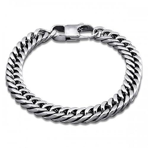 343bc274e5ad PLT joyas acero quirúrgico Ion chapado en pulsera de cadena para hombre  Joyería de moda hecha de acero inoxidable  PLT Jewellery  Amazon.es  Joyería