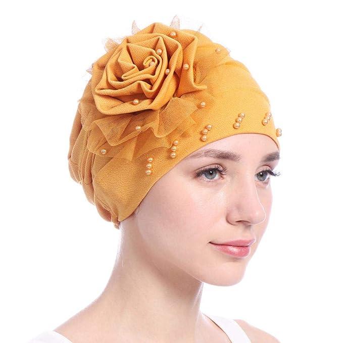 018ef4b59 Biback Pañuelo la Cabeza Turbante Mujer Apagado Tapa para quimio, pérdida  de Pelo, Sombrero