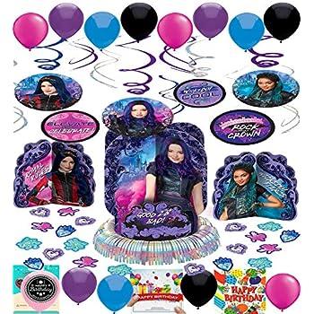 Amazon.com: Descendants - Pack de 3 adornos para fiestas de ...