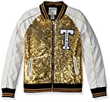 True Religion Big Girls' Sequin Jacket, Gold, S