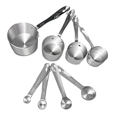 All-Clad Stainless-Steel 8 pc. Standard-Size Measuring Cup & Spoon Combo Set