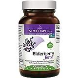 New Chapter Elderberry Force, Elderberry Supplement with Black Elderberry + Black Currant for Immune Support - 30 ct Vegetarian Capsule