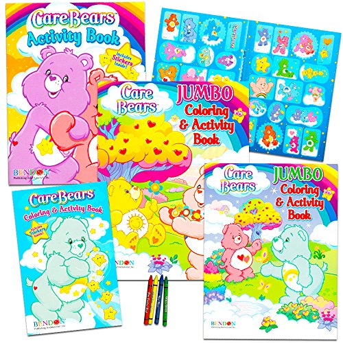 Care Bears Coloring Book Super Set with Stickers (3 Jumbo Books - Over 250 Coloring Pages and 30 Stickers Featuring Care Bears!)
