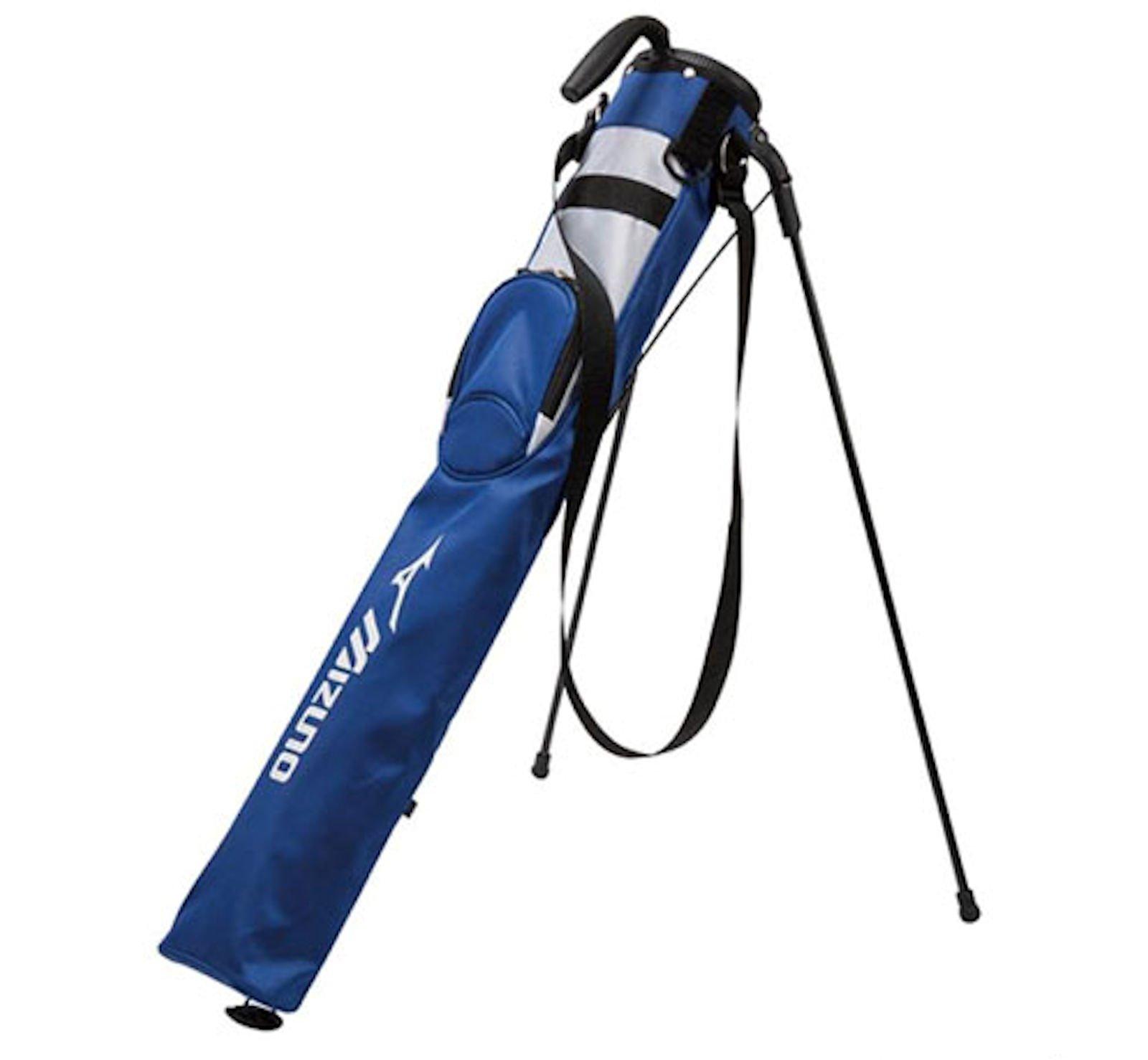 Mizuno Golf Japan Half Size Club Case Caddie Stand Bag, White-Navy