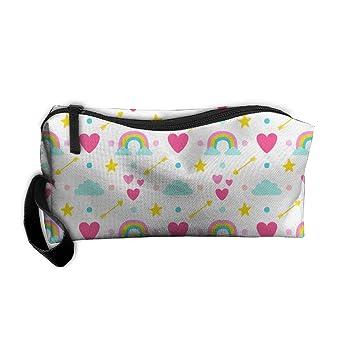 Dnieospla Unisex Unicornio Print Portable Washable Travel Wristlets Bag Bathroom And Organizing