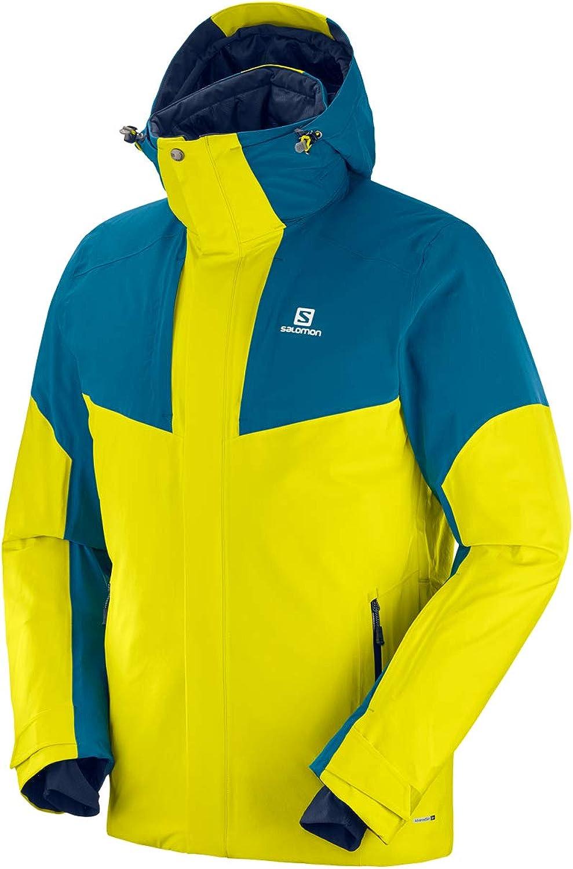 Salomon Herren Ski Jacke mit Kapuze, STORMSTRONG JKT M