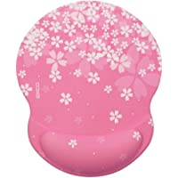 EXCO Wrist Rest Support for Mouse Pad&Keyboard Set with Wrist Support Mouse Pad Wrist Rest for Home/Office (Sakura)