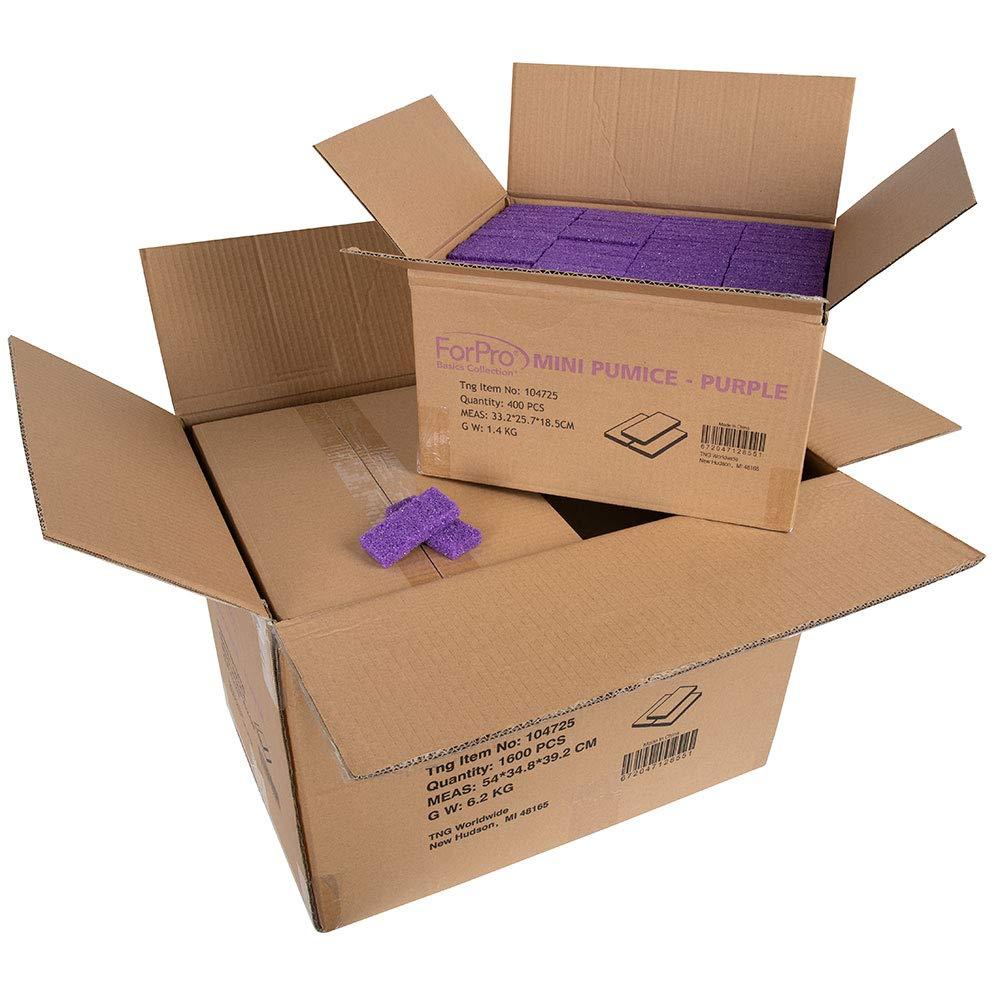 ForPro Basics Mini Pumice Pad Purple - Case Pack 4 boxes, 400-ct. each box. 1600 Total-Pieces