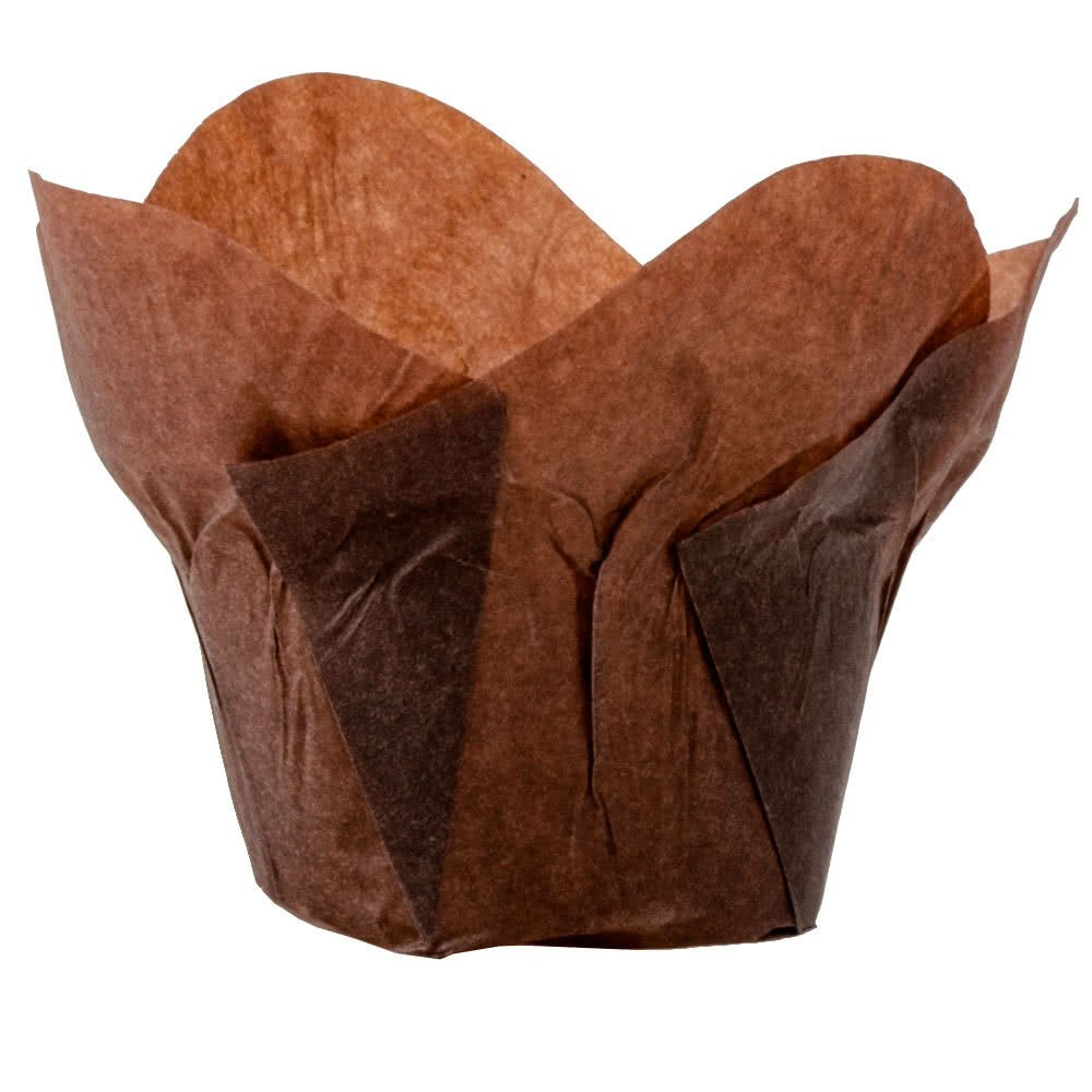 Lotus Cupcake Liners Parchment Baking Cups for Muffins 100 count (Cacao)