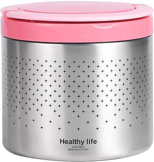 Caja de almuerzo de vacío aislado recipiente de comida caliente termo frío Azul