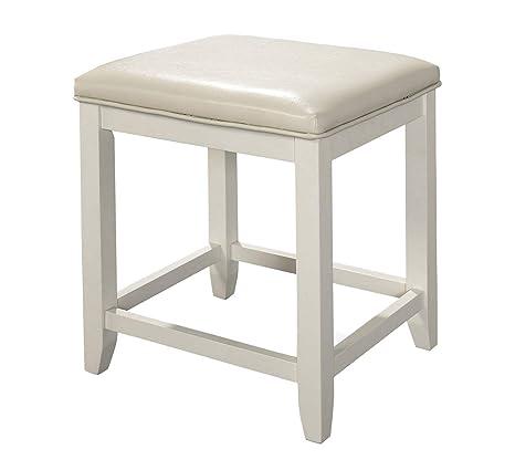 Enjoyable Amazon Com Wood Style Furniture Vista Vanity Stool Alphanode Cool Chair Designs And Ideas Alphanodeonline